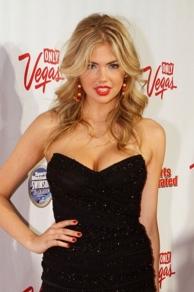LAS VEGAS, NV - FEBRUARY 16:  Sports Illustrated swimsuit model Kate Upton arrives at SI Swimsuit On Location hosted by LAX Nightclub at LAX Nightclub on February 16, 2011 in Las Vegas, Nevada.  (Photo by Jacob Andrzejczak/Getty Images for Sports Illustrated)