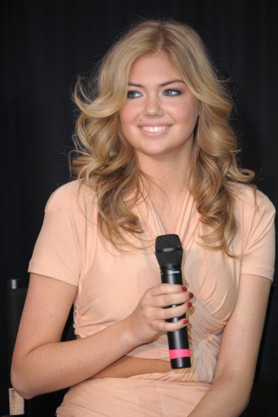 LAS VEGAS, NV - FEBRUARY 17:  Sports Illustrated swimsuit model Kate Upton speaks onstage during the SI Swimsuit Fashion & Beauty Roundtable at The Fashion Show Mall on February 17, 2011 in Las Vegas, Nevada.  (Photo by Michael Loccisano/Getty Images for Sports Illustrated)