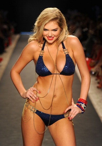 MIAMI BEACH, FL - JULY 15:  Kate Upton walks the runway at the Beach Bunny Swimwear show during Merecdes-Benz Fashion Week Swim 2012 at The Raleigh on July 15, 2011 in Miami Beach, Florida.  (Photo by Frazer Harrison/Getty Images for Beach Bunny)