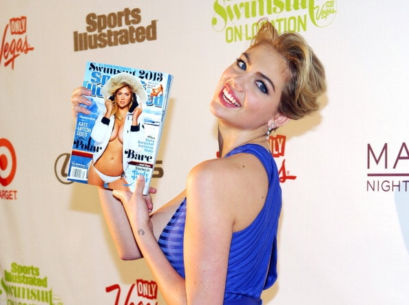 LAS VEGAS, NV - FEBRUARY 13:  Sports Illustrated swimsuit model Kate Upton attends SI Swimsuit on Location at the Marquee Nightclub at The Cosmopolitan of Las Vegas on February 13, 2013 in Las Vegas, Nevada.  (Photo by Bryan Steffy/Getty Images)