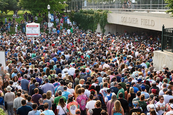 CHICAGO, IL - JULY 03:  A general view of atmosphere during Fare Thee Well, A Tribute To The Grateful Dead at Soldier Field on July 3, 2015 in Chicago, Illinois.  (Photo by Daniel Boczarski/Getty Images)