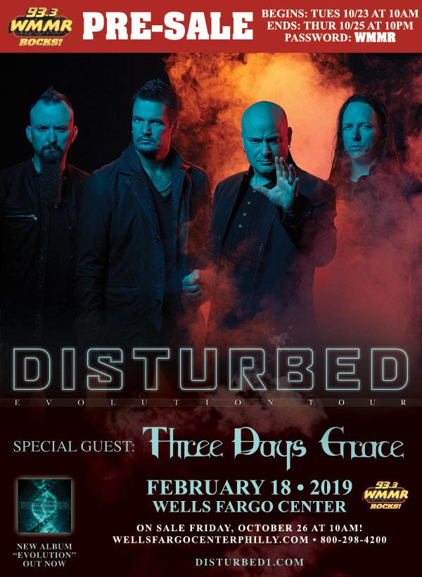 Disturbed 2019 Tour MMR Presale