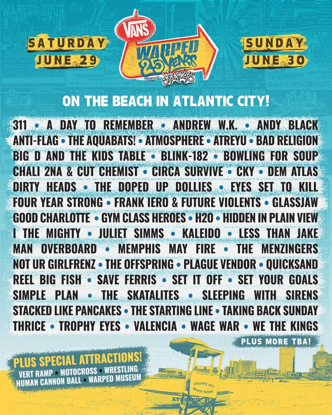 Warped Tour in AC 2019