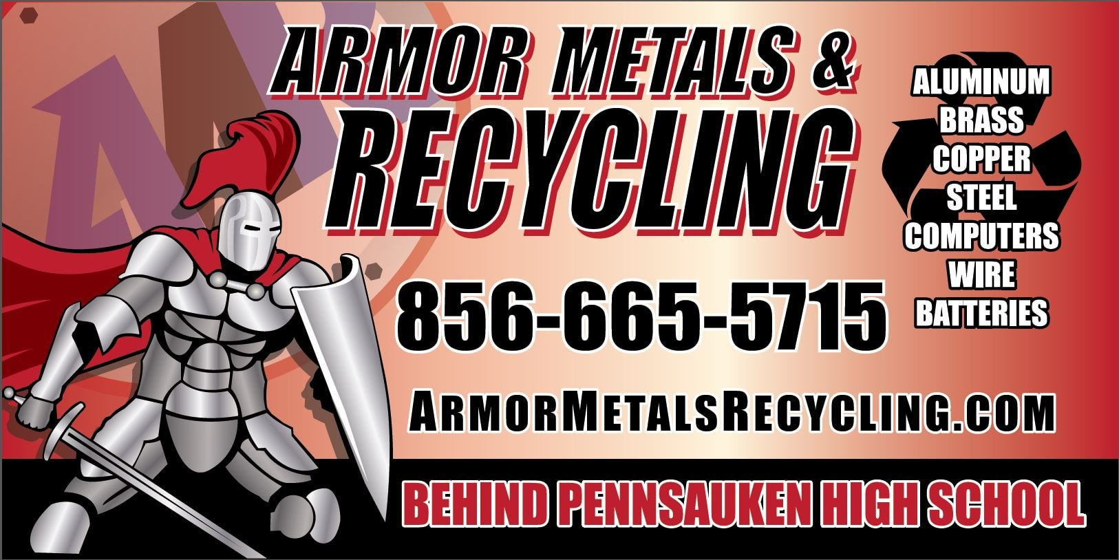 Armor Metals and Recycling logo w info