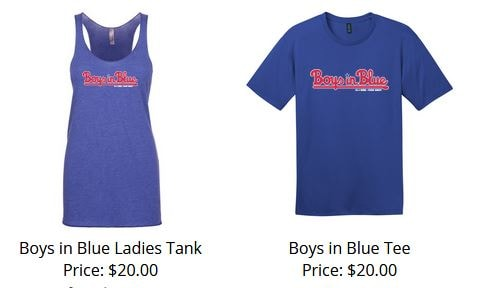 Boys in Blue T and Tank 2019