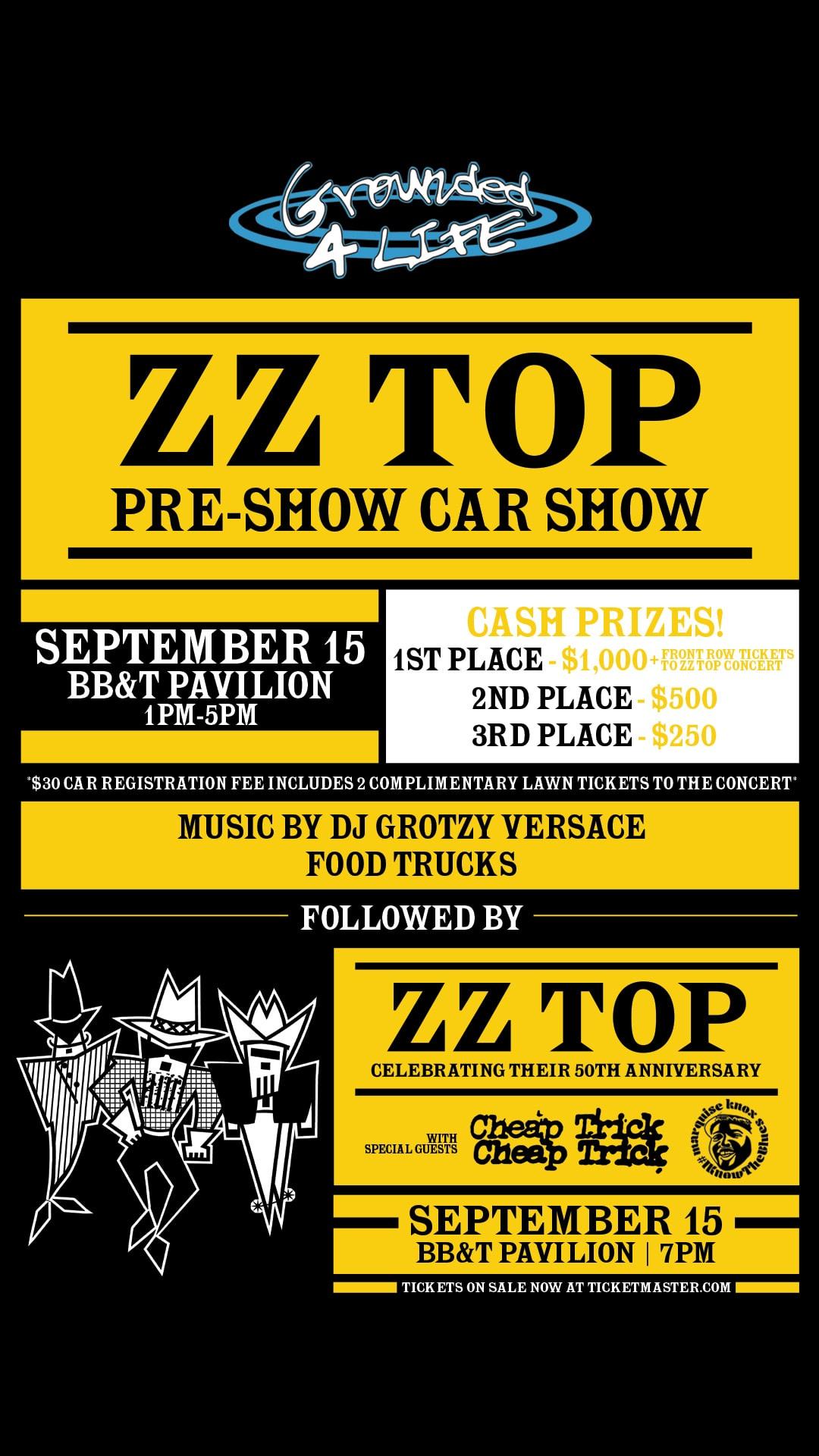 ZZ Top Pre-show Car Show