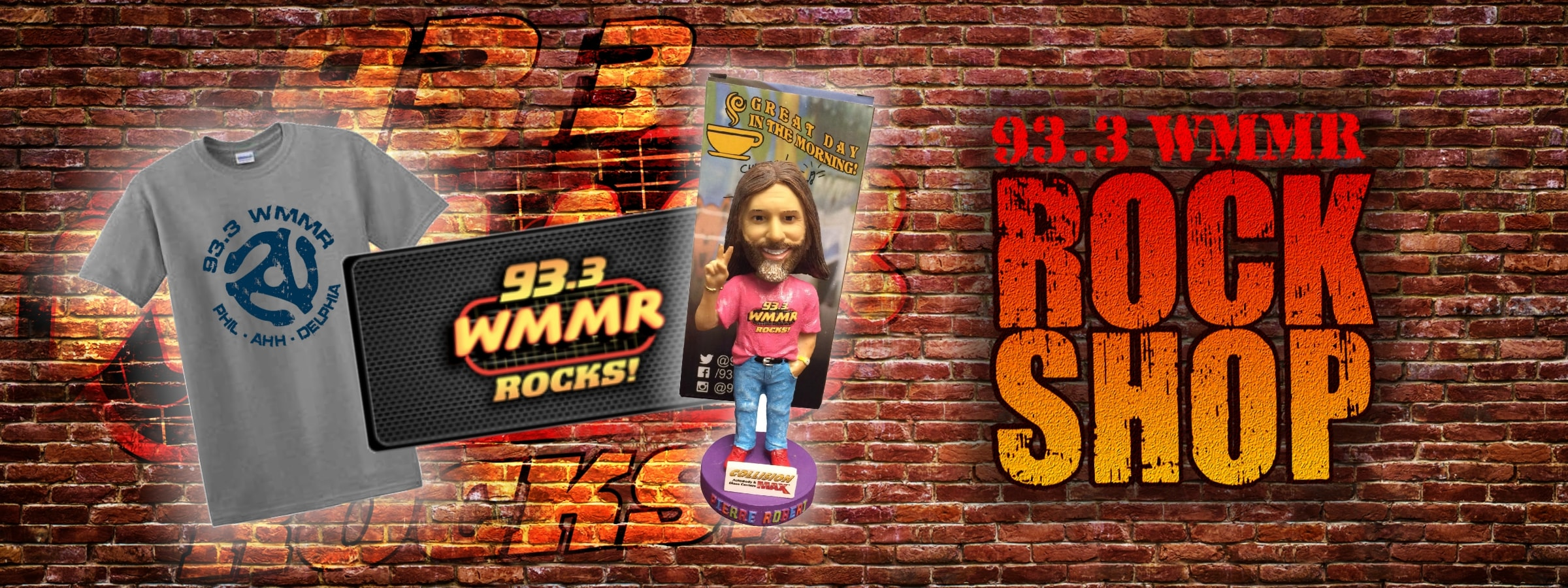 WMMR Rock Shop Calendars Bobbleheads etc