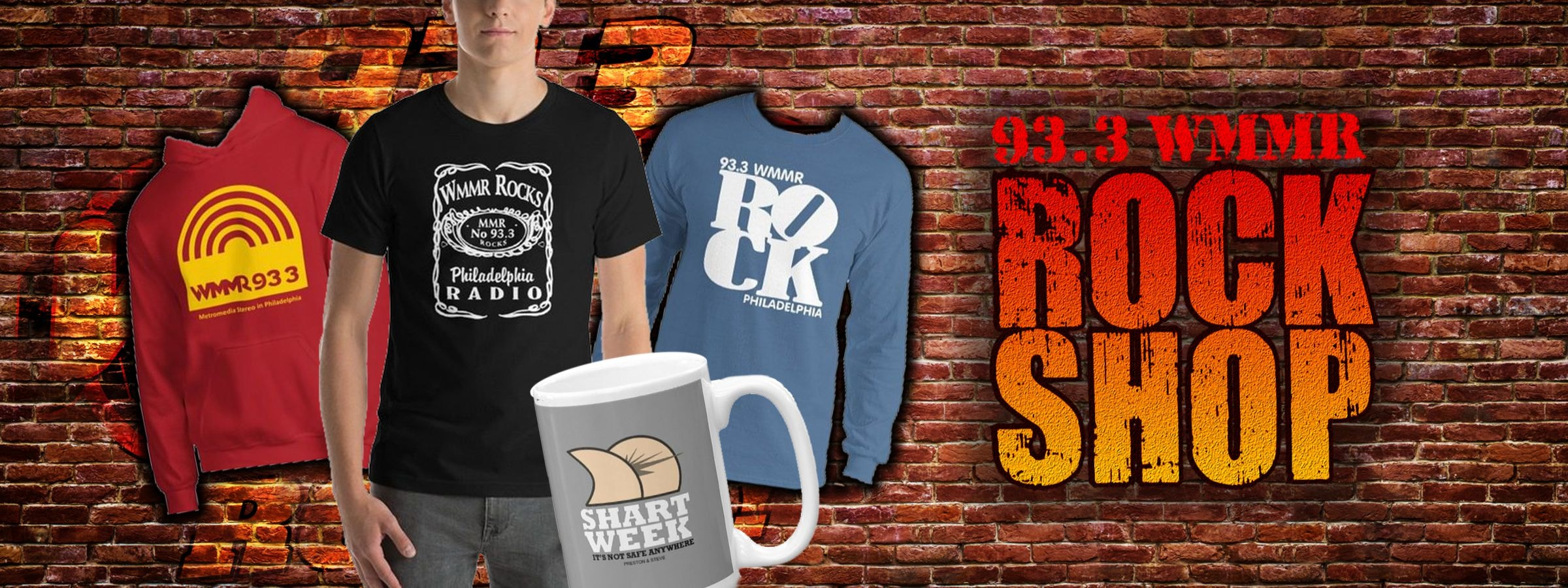 WMMR Rock Shop Shirts Mugs etc