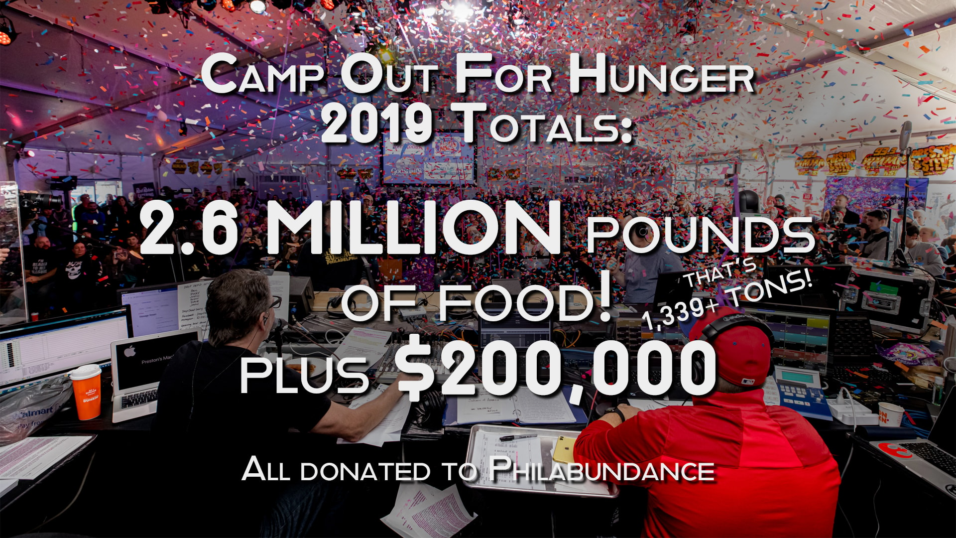 The totals are in! Camp Out for Hunger 2019 collected…