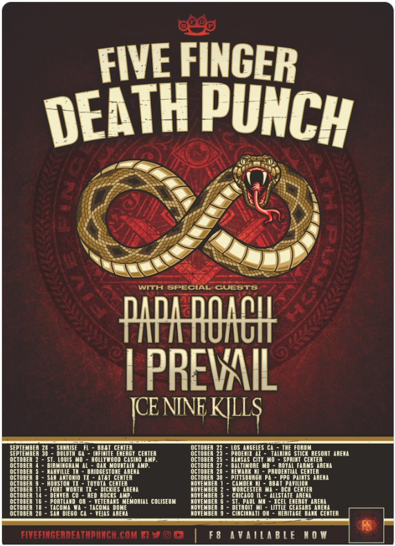 Five Finger Death Punch update twitter post