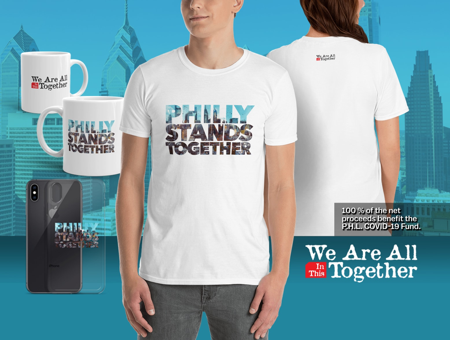 Philly Stands Together charity merchandise
