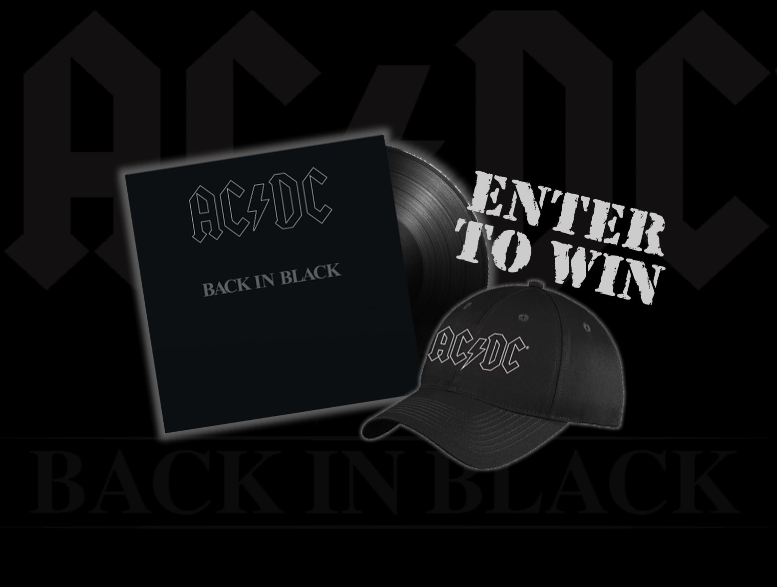 AC/DC Back In Black Enter To Win