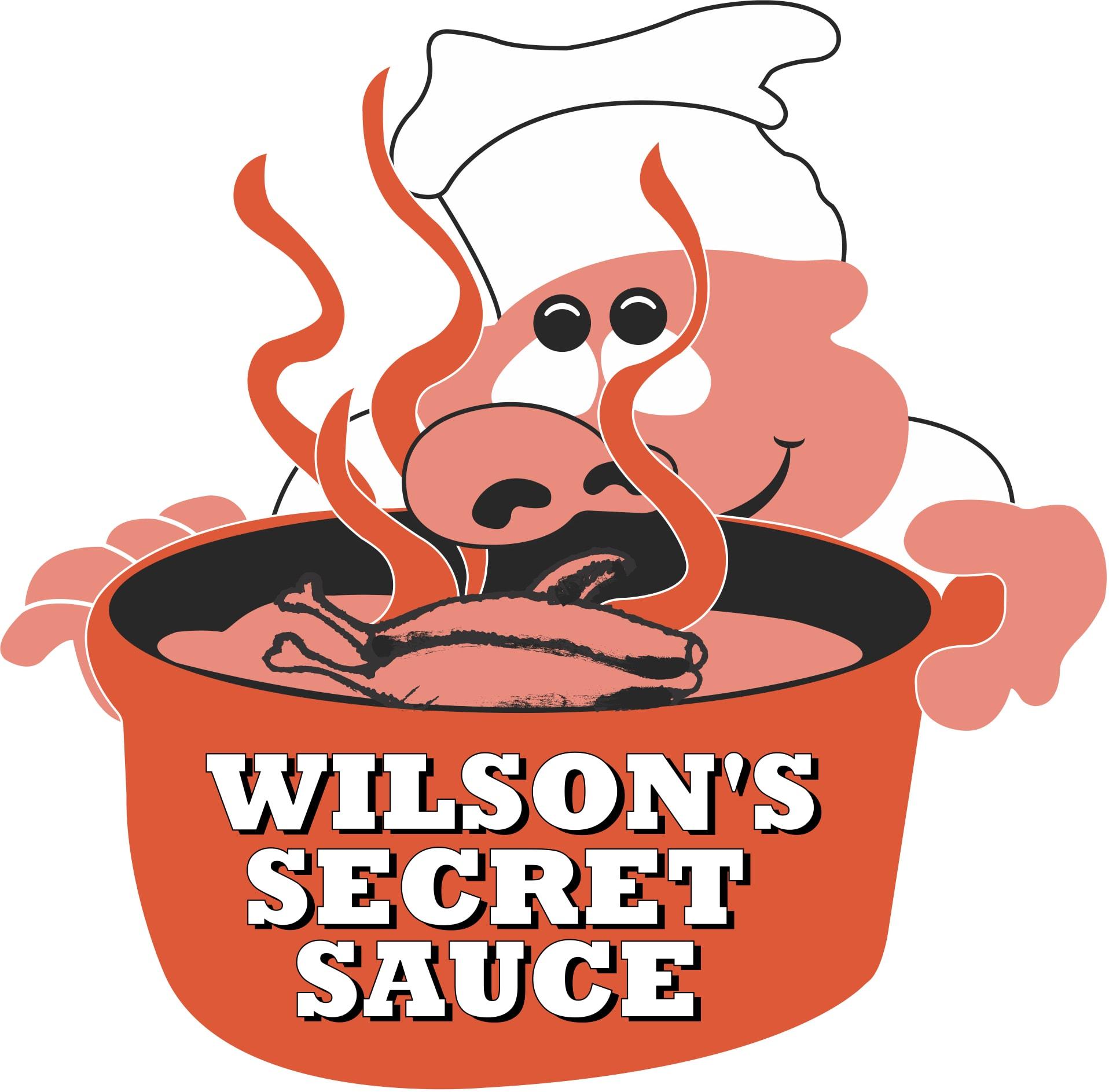 Wilson's Secret Sauce BBQ Restaurant Logo